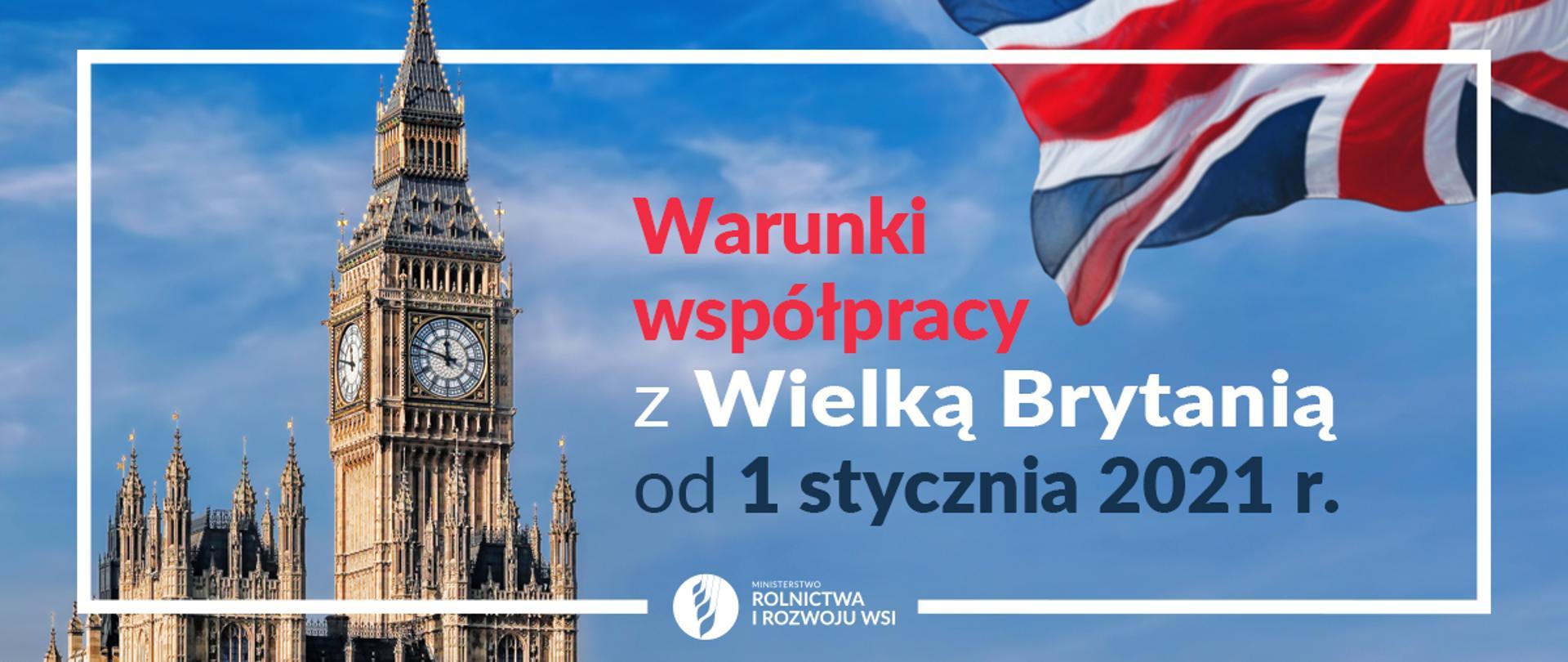 """grafika do komunikatu """"UE i Wielka Brytania uzgodniły warunki współpracy """". Big Ben"""