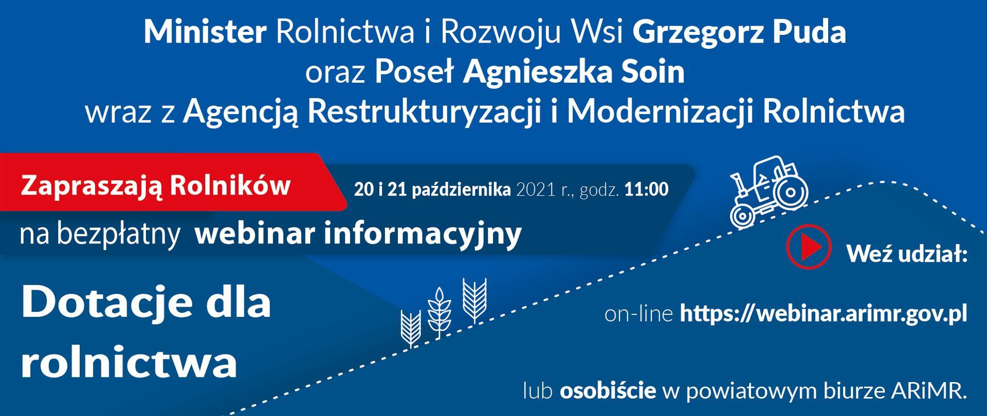 """Zdjęcie do artykułu Wkrótce kolejny webinar z cyklu """"Dotacje dla rolnictwa"""""""