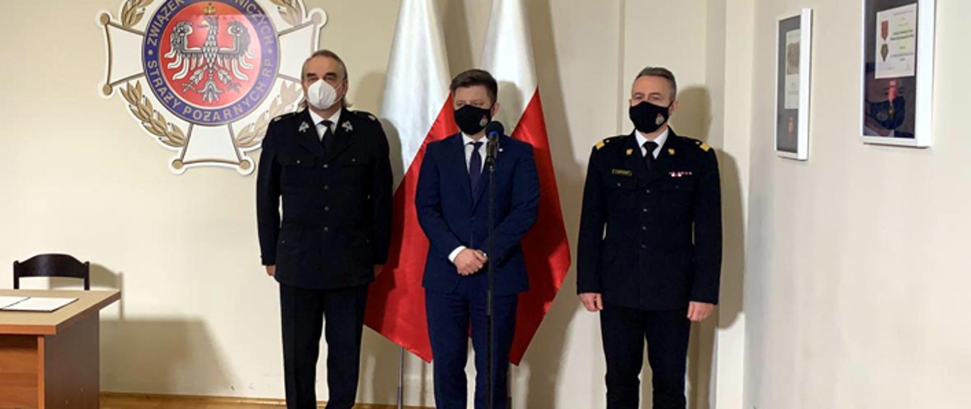 Spotkanie komendanta głównego PSP nadbryg. Andrzeja Bartkowiaka z przedstawicielami rządu i władzami ZG ZOSP RP.