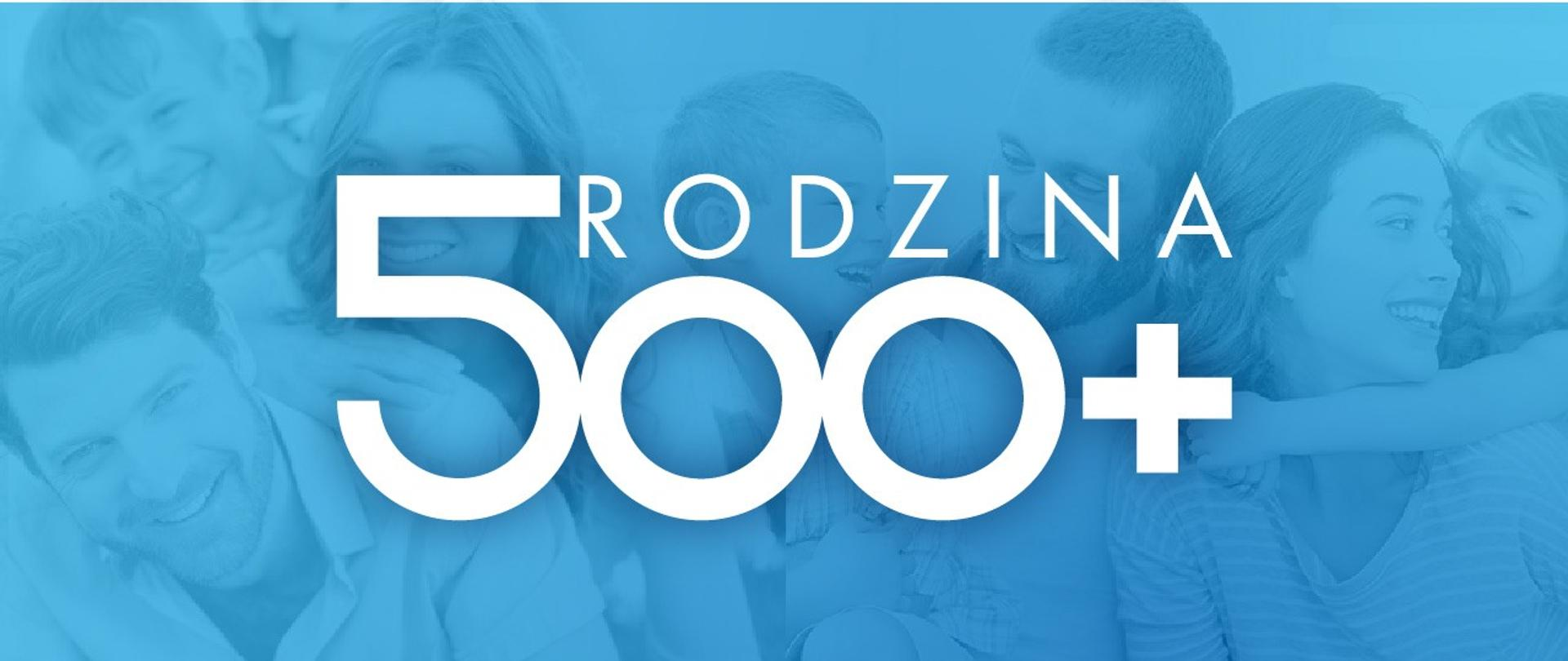 Rodzina i logo programu Rodzina 500 Plus