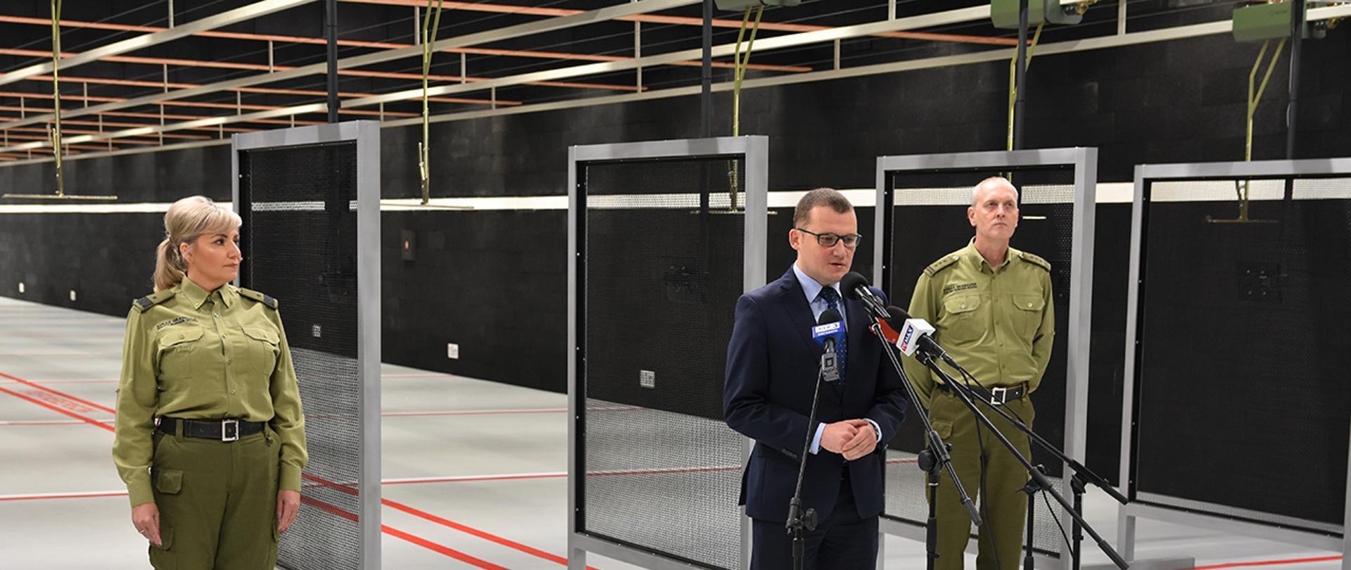 Otwarcie strzelnicy w Centralnym Ośrodku Szkolenia Straży Granicznej w Koszalinie
