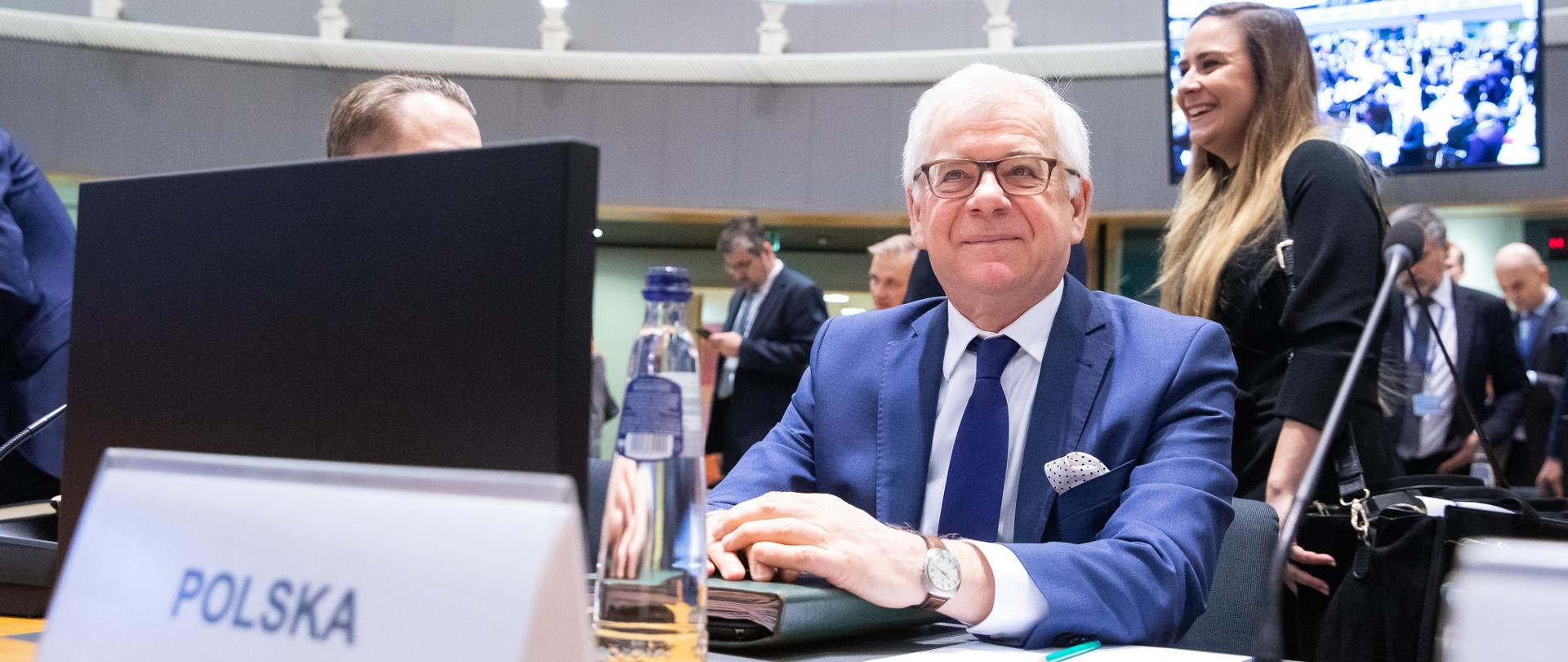 Minister Jacek Czaputowicz attends Foreign Affairs Council in Brussels