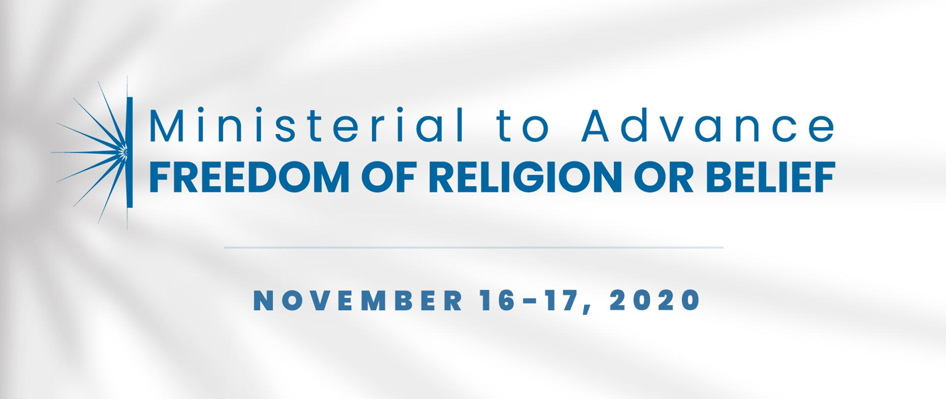 2020 Ministerial to Advance Freedom of Religion or Belief