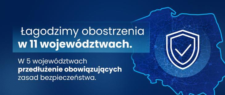 łagodzimy obostrzenia-mapa Polski