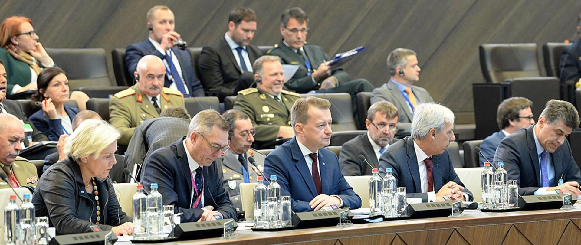 Defence Minister M. Błaszczak during NAC session
