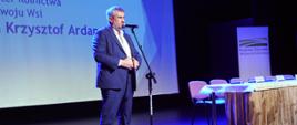 Minister Ardanowski podczas wystąpienia na konferencji