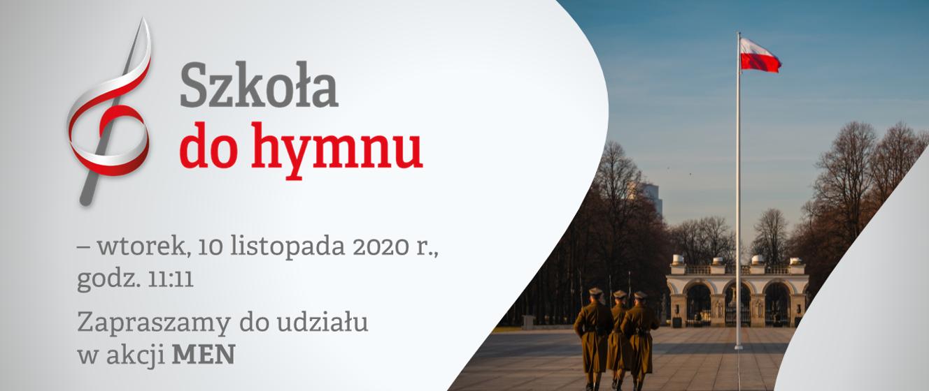 Szkoła do hymnu 2020 – odśpiewaj hymn narodowy we wtorek, 10 listopada o  godz. 11:11 - Ministerstwo Edukacji Narodowej - Portal Gov.pl