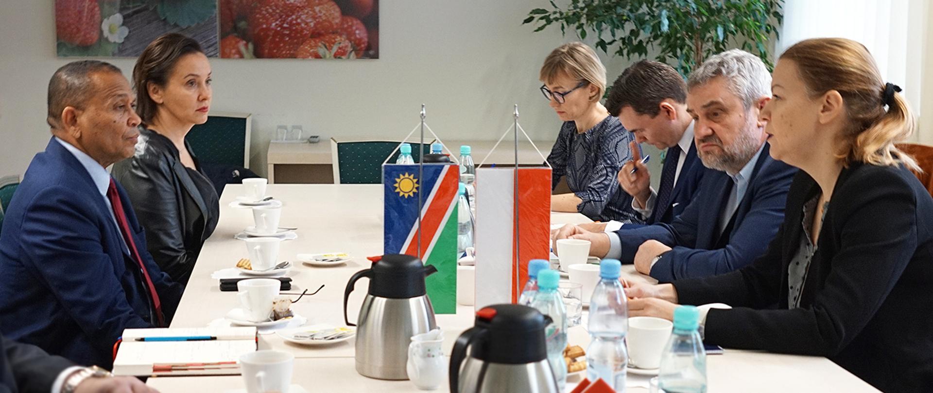 Spotkanie z Ambasadorem Republiki Namibii