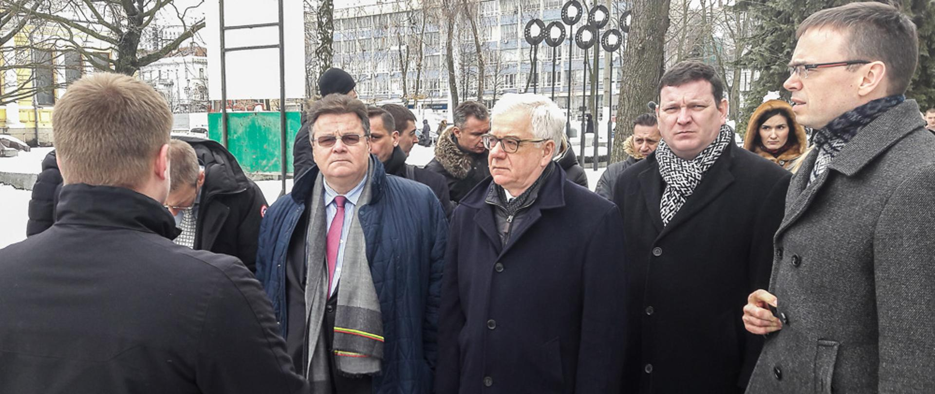 Minister Jacek Czaputowicz travelled to Dnipro in Ukraine