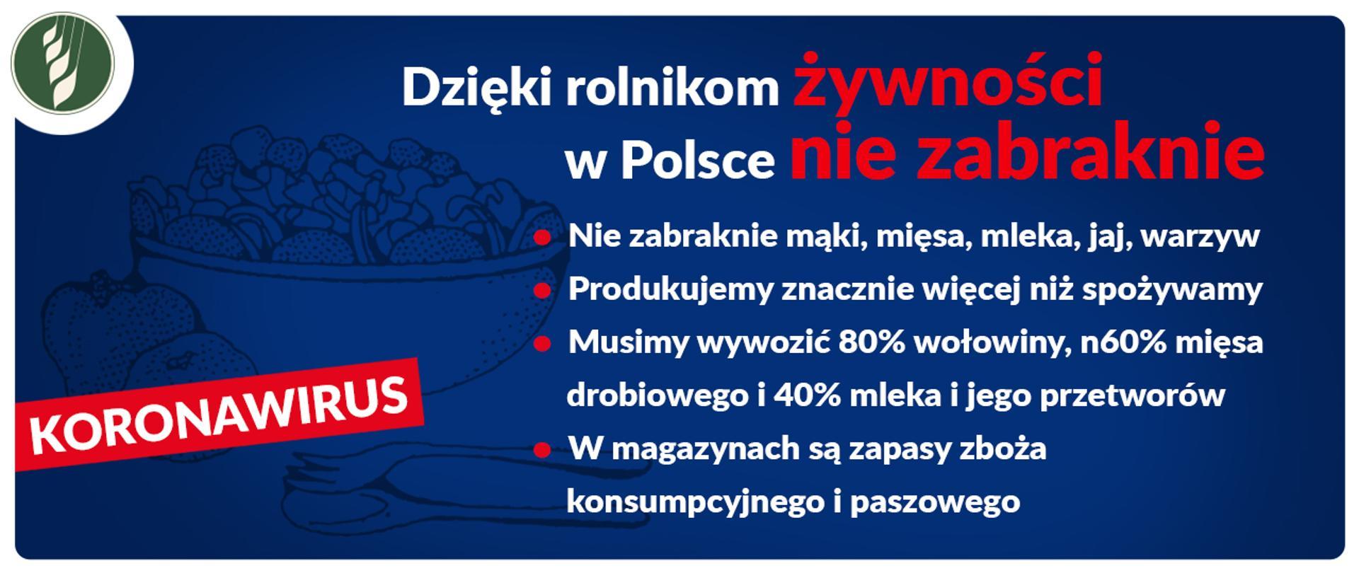 Dzięki rolnikom żywności w Polsce nie zabraknie