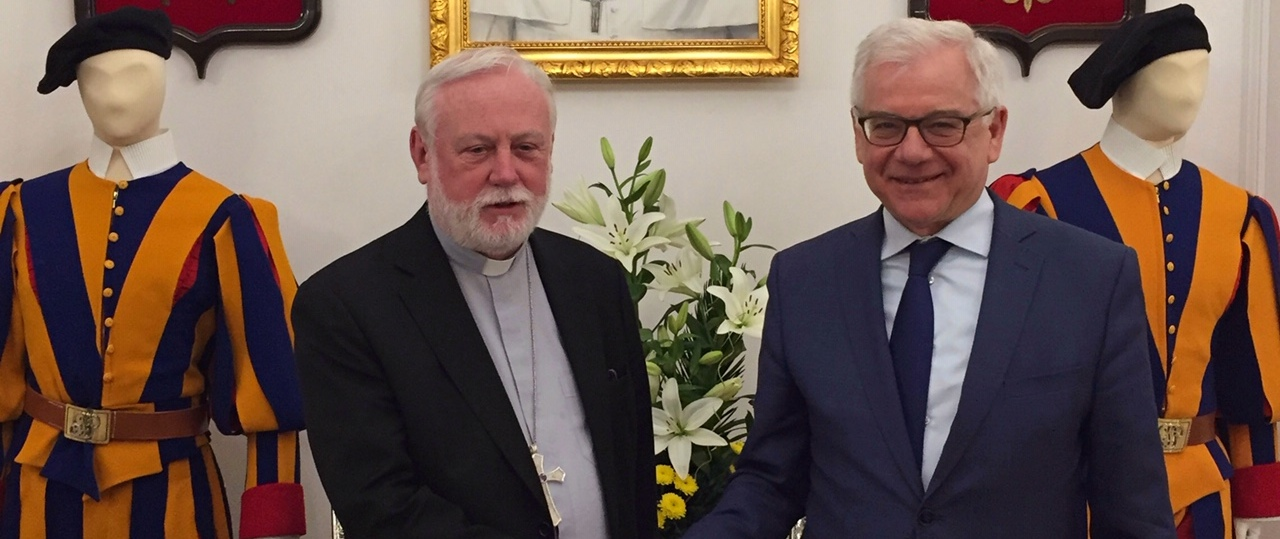 Archbishop Paul Gallagher, Secretary for Relations with States in the Secretariat of State of the Holy See, visits Poland