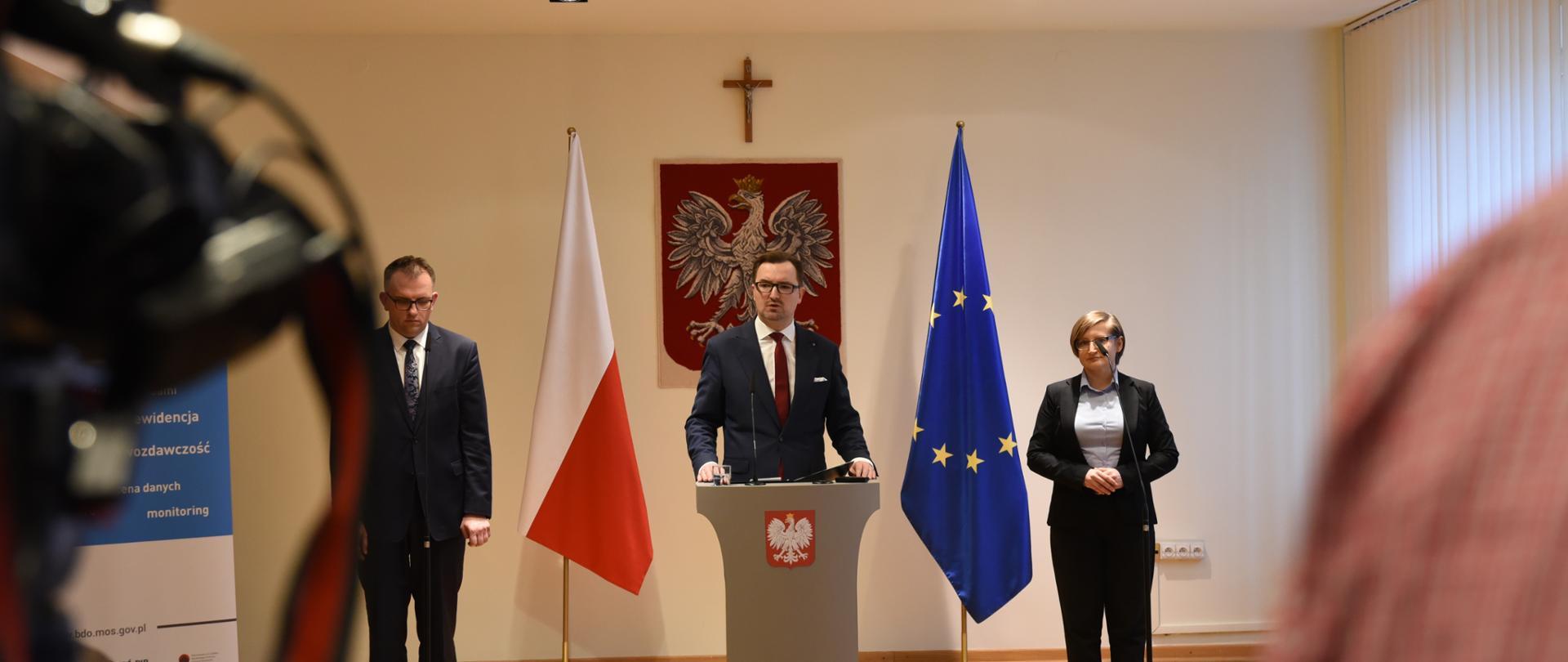 Konferencja prasowa wiceministra S. Mazurka dot. BDO