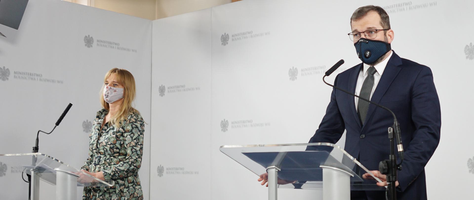 minister rolnictwa irozwoju wsi Grzegorz Puda idyr.Joanna Gierulska