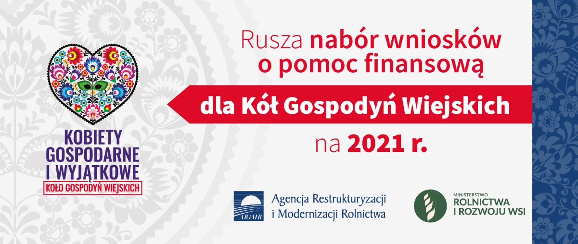 Infografika - rusza nabór wniosków o pomoc finansową dla Kół Gospodyń Wiejskich na 2021 r.
