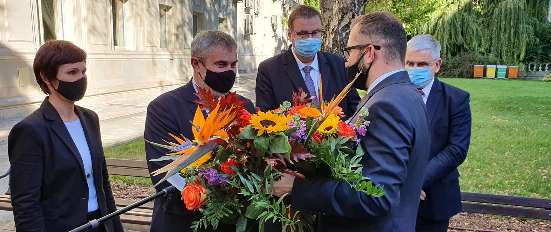Powitanie ministra Grzegorza Pudy