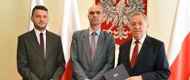 Minister Środowiska Henryk Kowalczyk i Generalny Dyrektor Ochrony Środowiska Andrzej Szweda-Lewandowski
