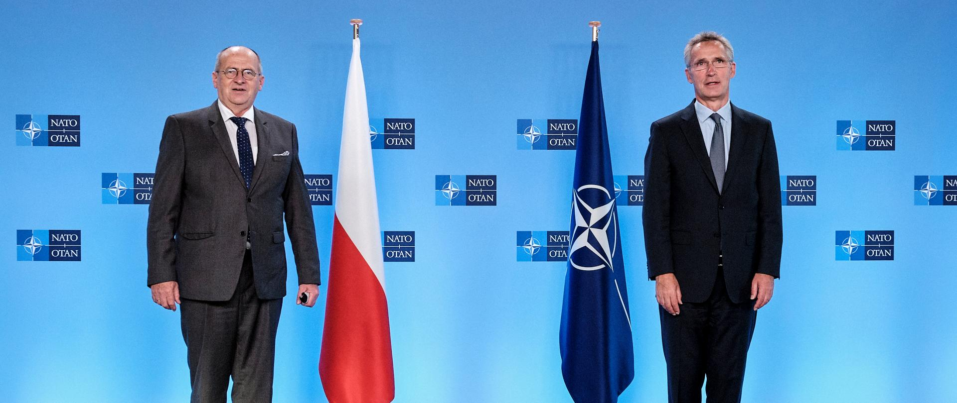 Meeting of Foreign Minister Zbigniew Rau with NATO Secretary General Jens Stoltenberg_21.09.2020