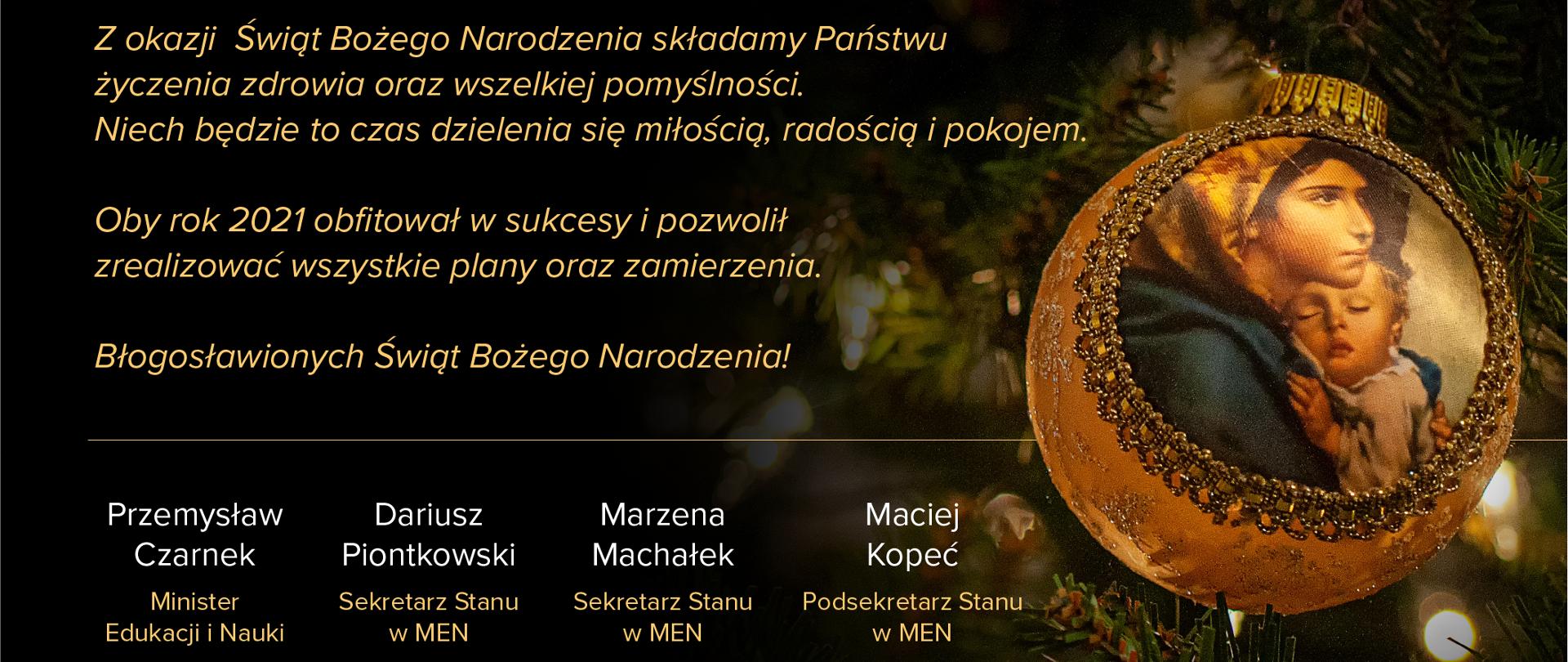 Błogosławionych Świąt - życzenia od Ministra Edukacji i Nauki oraz członków kierownictwa MEN