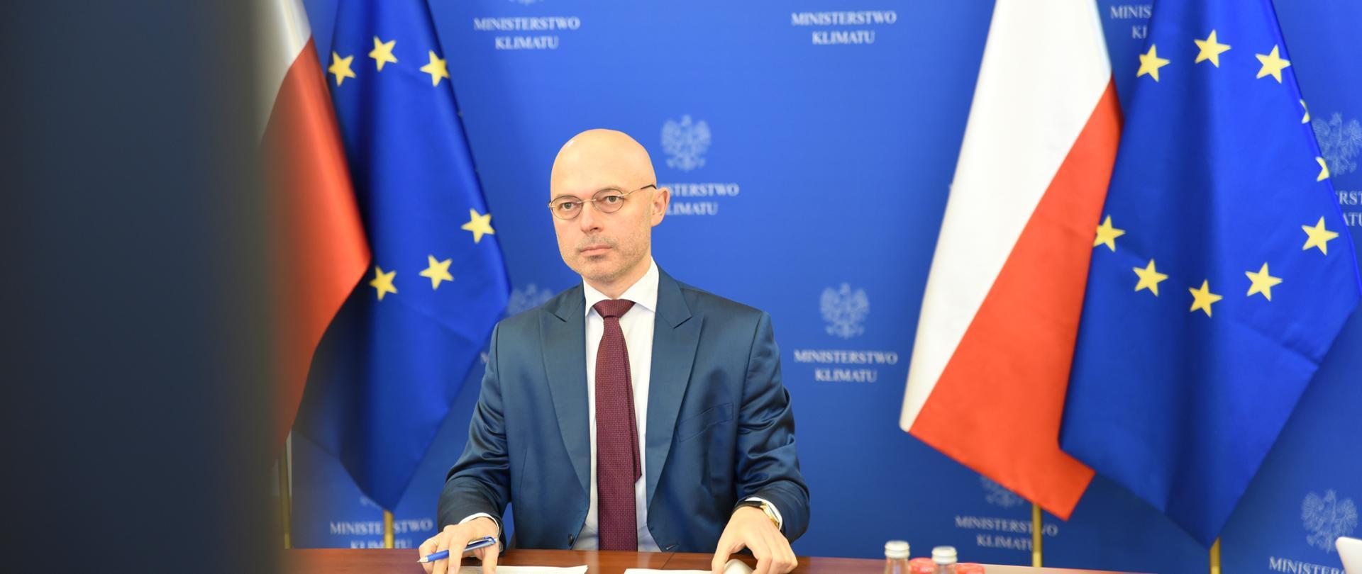 """Minister klimatu i środowiska Michał Kurtyka podczas pierwszego dnia konferencji """"EkoSfera"""""""