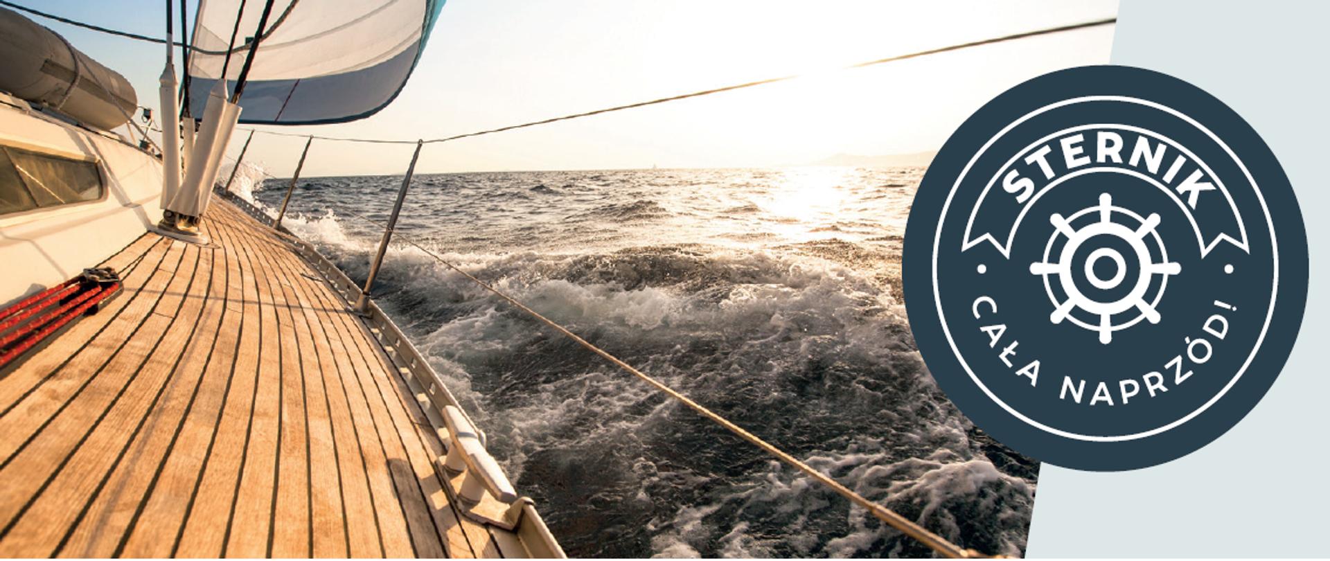 burta łódki płynąca po wodzie i napis: Jak utrzymać bezpieczny kurs?