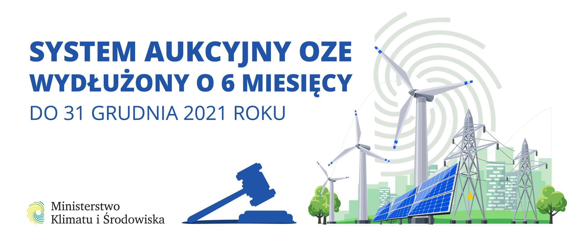 Przedłużenie aukcji dla OZE do końca 2021 r.