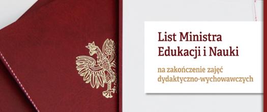 List Ministra Edukacji