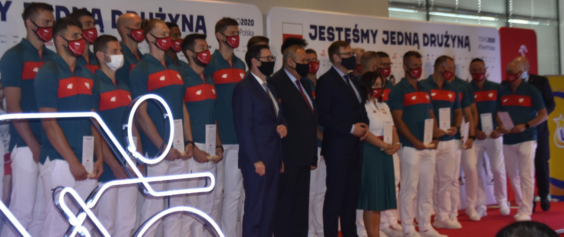 Uczestnicy uroczystości wręczenia nominacji olimpijskich