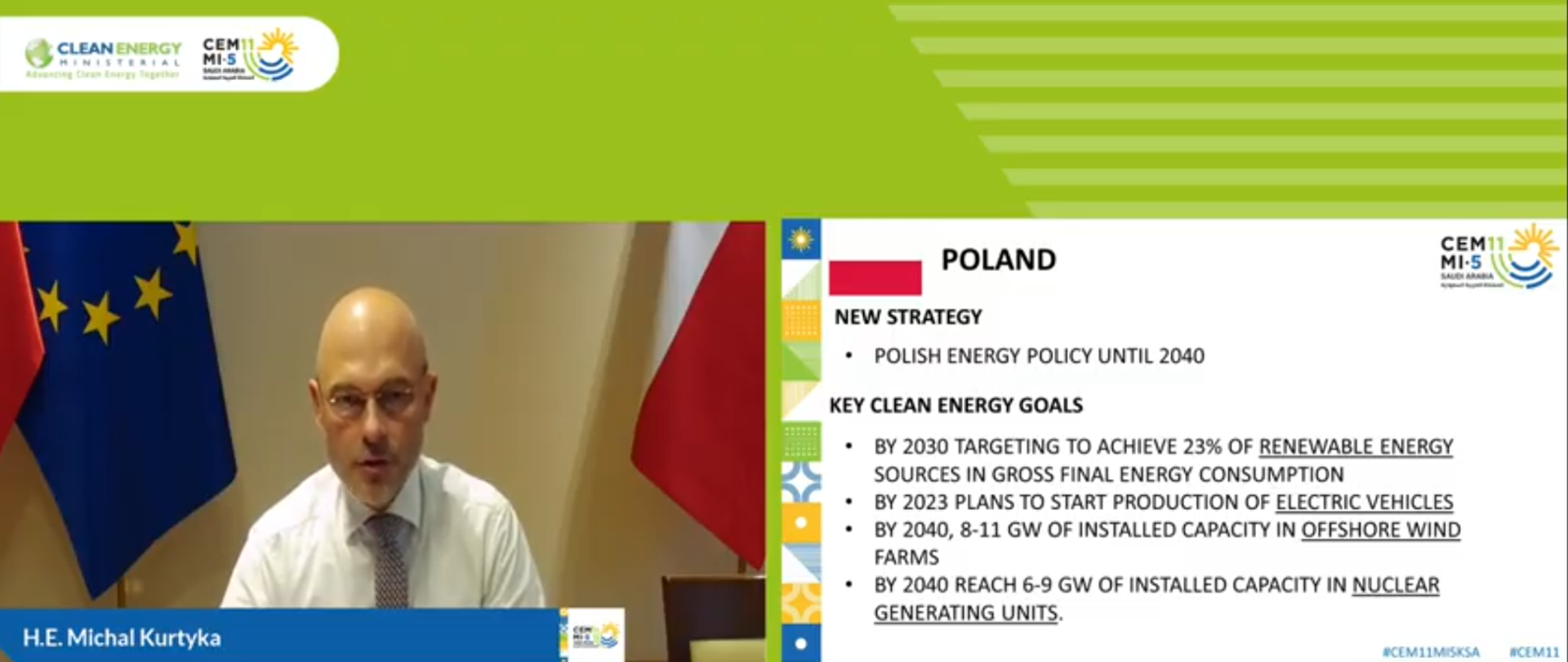 "Minister Kurtyka na spotkaniu ""Clean Energy Ministerial"""