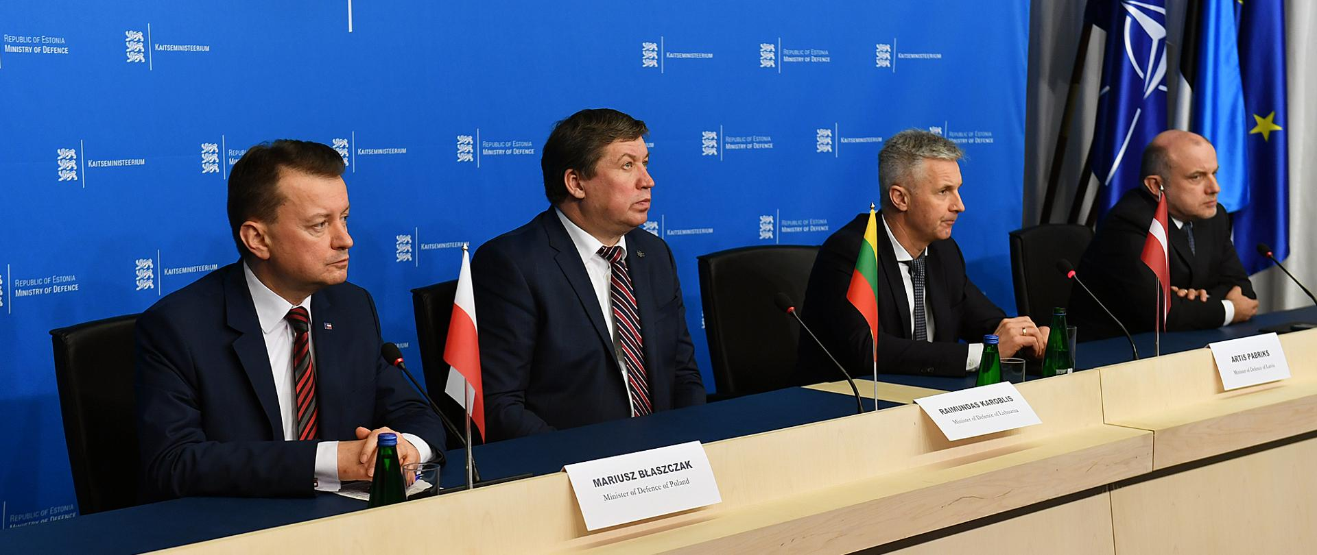 Press conference of the defence ministers of the Baltic States and Poland