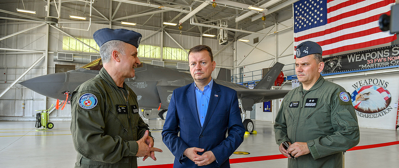 Defence Minister Blaszczak at Eglin AFB, USA