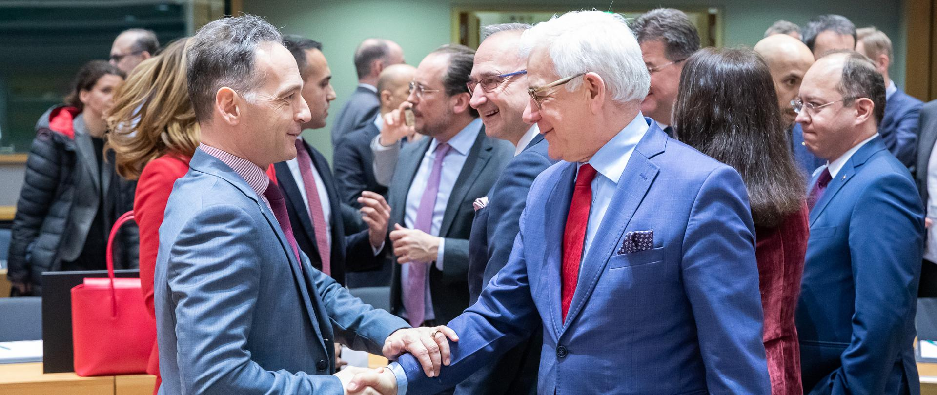 Minister Jacek Czaputowicz attends extraordinary Foreign Affairs Council meeting