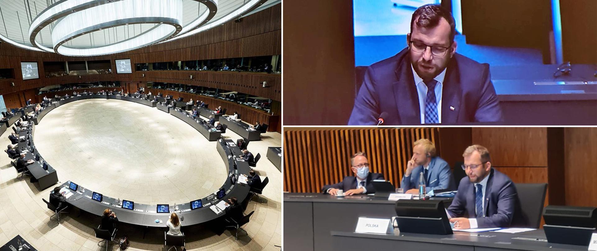 Minister Grzegorz Puda podczas posiedzenia Rady UE ds. Rolnictwa i Rybołówstwa