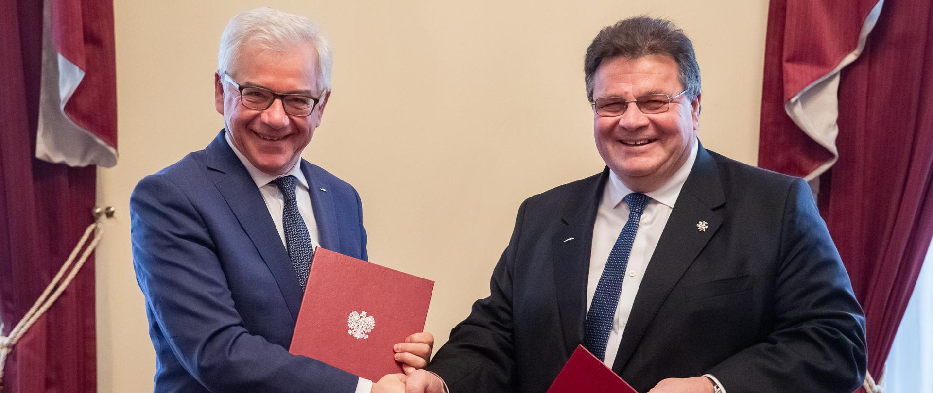 Minister Jacek Czaputowicz and Minister Linas Linkevicius