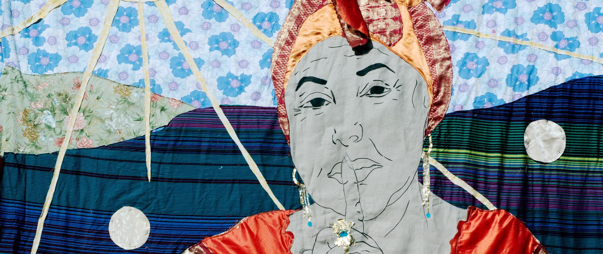 Małgorzata Mirga-Tas, Esma Redźepova / Herstories, patchwork, 2021, fragment projektu konkursowego do Pawilonu Polskiego na Biennale Sztuki 2022