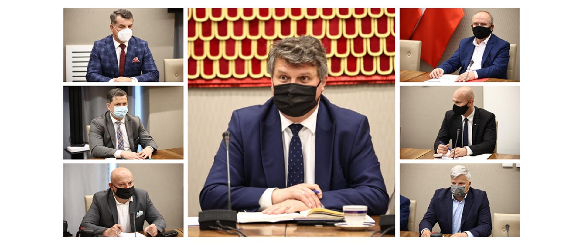 Spotkanie wiceministra Macieja Wąsika z przedstawicielami związków zawodowych