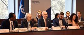 "Minister klimatu Michał Kurtyka przemawia podczas debaty IEA ""Building an Energy and Climate Grand Coalition"""