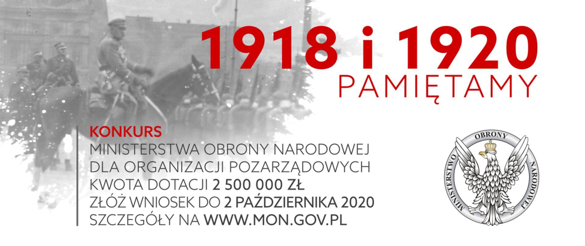 Grafika na konkurs 1918 i 1920 Pamiętamy