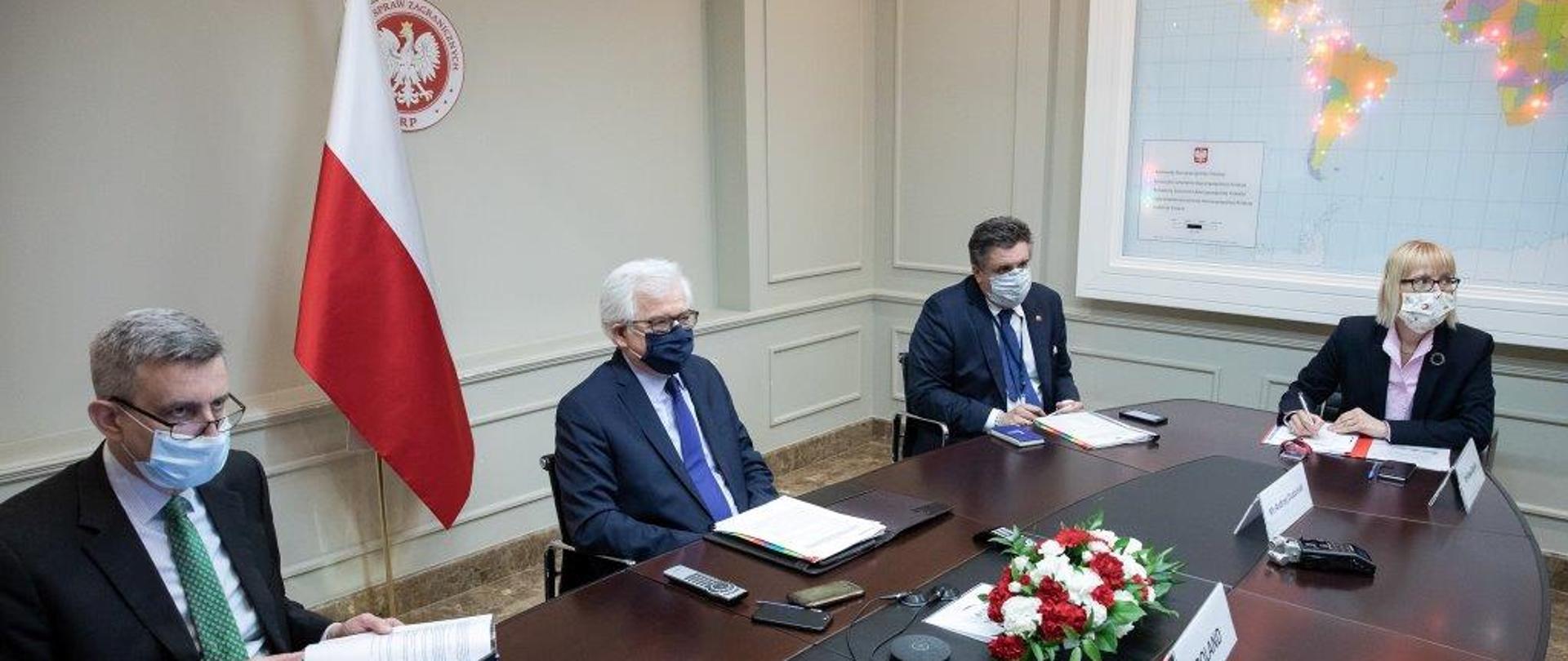 Wideokonferencja ministrów spraw zagranicznych Rady Państw Morza Bałtyckiego