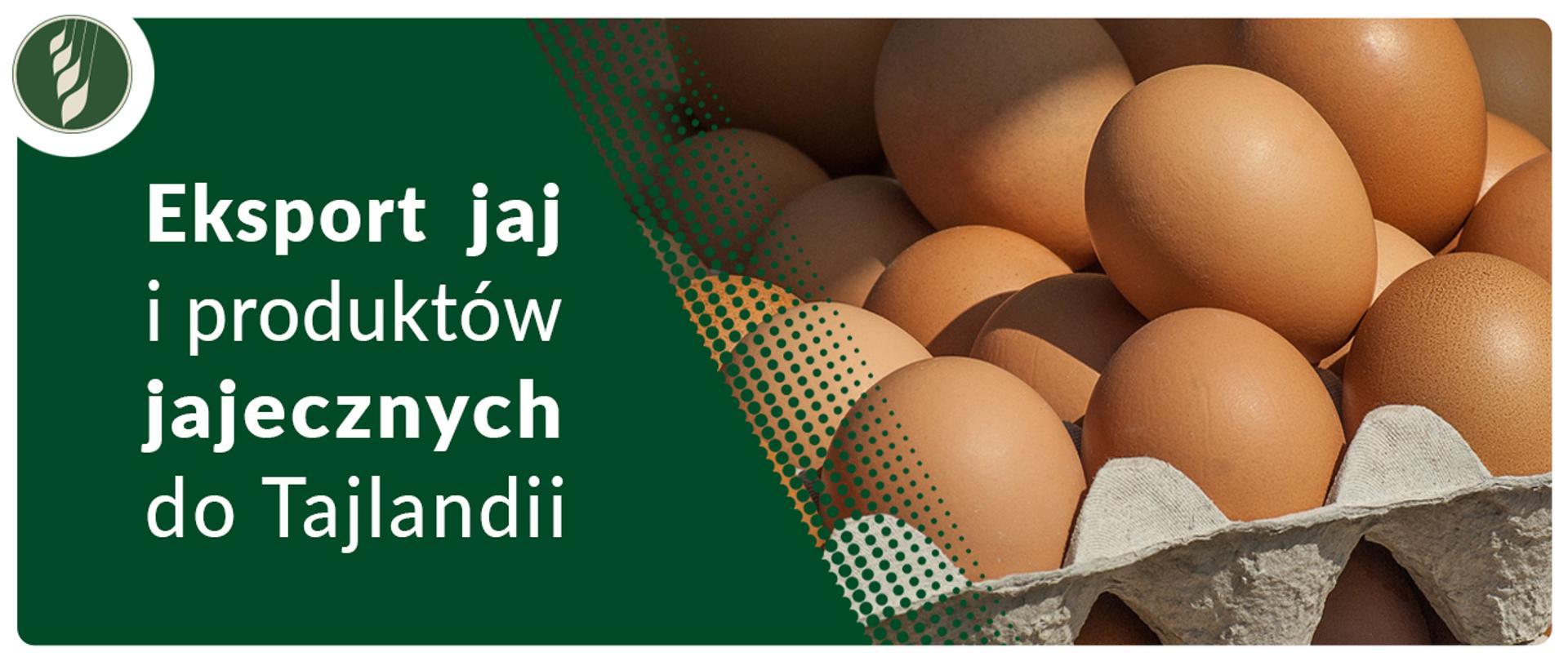 Eksport jaj i produktów jajecznych do Tajlandii